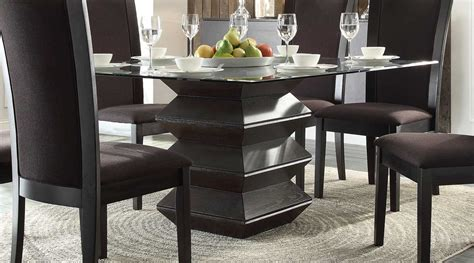 homelegance havre dining set brown fabric chairs