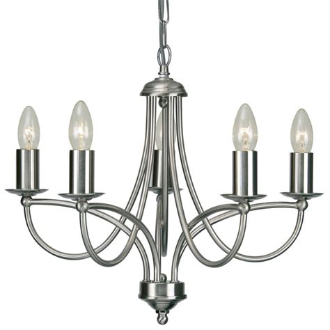 Chrome Chandelier 2711 5ac Loop 5 Light Chandelier In Antique Chrome