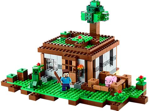 lego minecraft house the first night lego shop