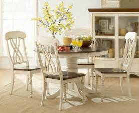 Round White Dining Room Table by Homelegance Ohana 5 Piece Dining Set In Antique White