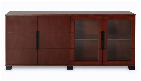 Cabinet Hays by Executive Cabinet With Walnut Wood And Glass Doors