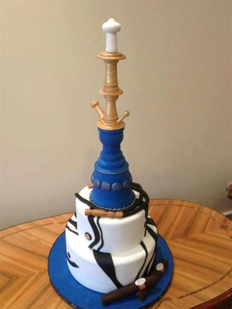 shisha kuchen hookah with cigars custom cake cakecentral