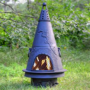 Gas Chiminea Outdoor Fireplace Blue Rooster Garden Chiminea W Gas Kit Charcoal
