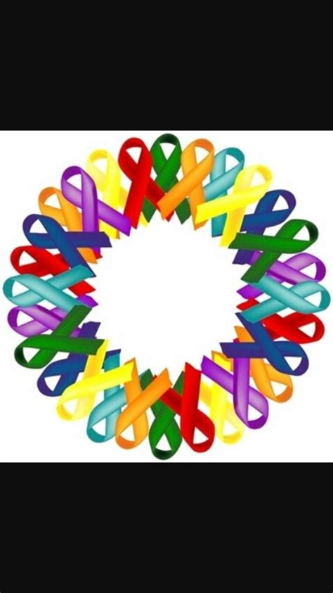 cancer color ribbon 16 best awareness ribbons images on awareness