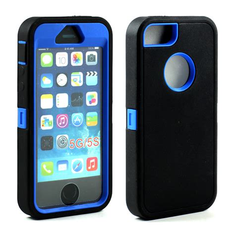 Iphone 5 5s Defender Hybrid Armor Ring wholesale iphone 5s 5 armor defender with screen and finger scan black blue