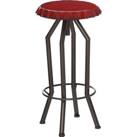 bottle top bar stools buy red bottle top style industrial bar stool from fusion