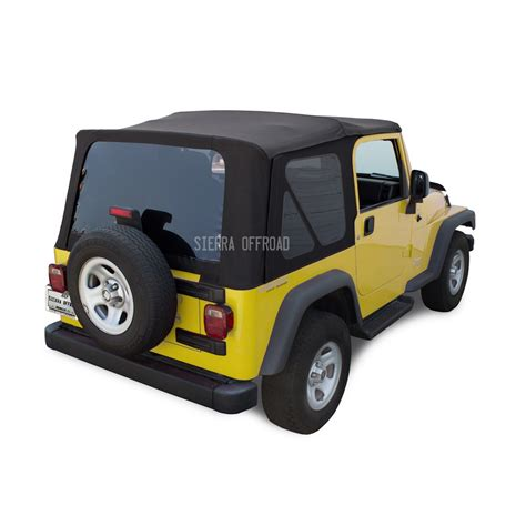 jeep soft top black sierra offroad jeep wrangler tj soft top 2003 06 in black