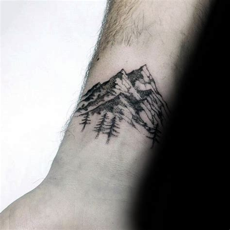 wrist tattoos for guys ideas mountain wrist designs ideas and meaning tattoos