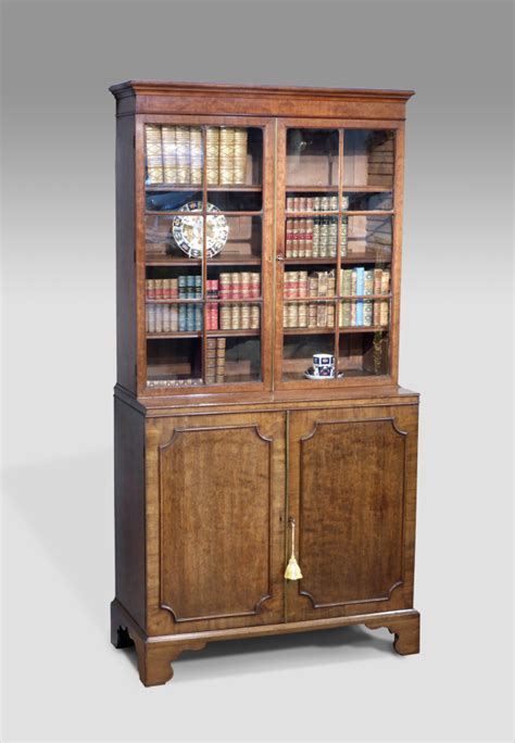 small antique bookcase cabinet library bookcase georgian