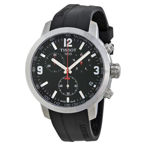 Tissot Prc 200 Chrono Leather Brw tissot prc 200 chronograph black black rubber mens