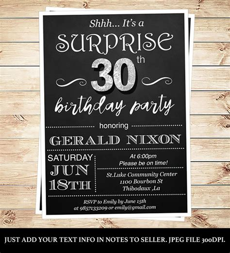 30th Birthday Invitations Templates Free Birthday Invitations Template Pinterest 30th Birthday Invitations Templates
