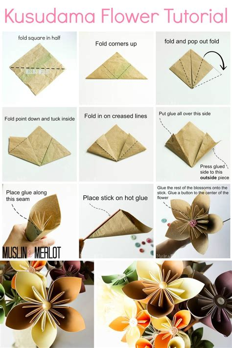 Origami Paper Flower Tutorial - 17 best ideas about origami flowers tutorial on