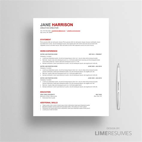 Ats Resume by Ats Resume Template Ats Friendly Resume Template