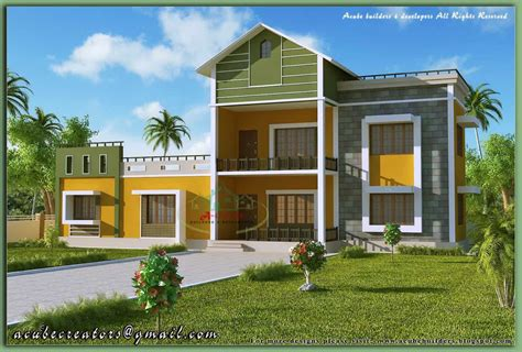 kerala home model sloping roof house elevation at 1700 sq ft