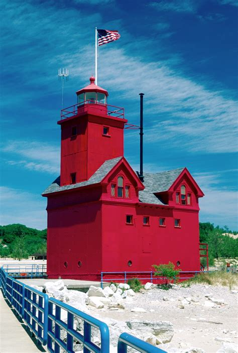 Harbor Light Mi by West Michigan Weekly Featured Lighthouse 3