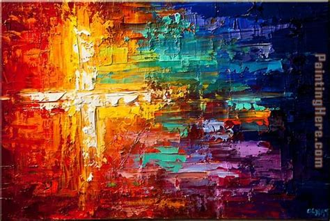 colorful painting 2014 portrait cross colorful painting anysize 50