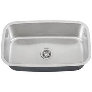 Single Bowl Stainless Kitchen Sink Ticor S112 Undermount Stainless Steel Single Bowl Kitchen Sink
