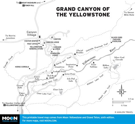 grand map and guide printable travel maps of wyoming moon travel guides