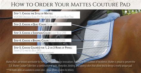 what color are you m i a pads e a mattes world equestrian brands