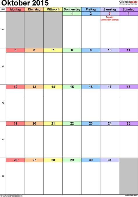 Word Vorlage Kã Ndigung Kalender Oktober 2015 Als Word Vorlagen