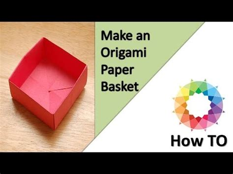 Where Can You Buy Origami Paper - how to make an origami paper basket