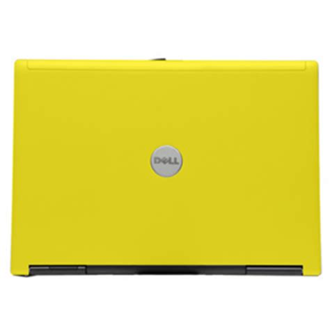 yellow dell d620 core 2 duo 1.83 ghz laptop 2gb 80gb