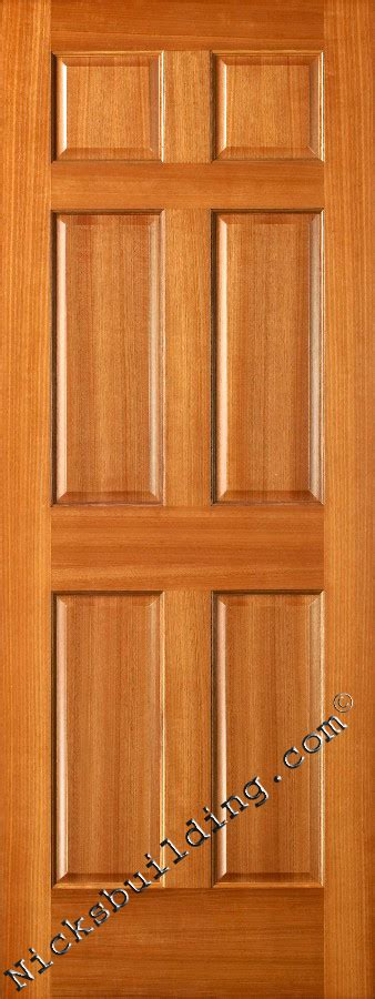 6 Panel Wood Doors by Interior Doors Wood Solid Mahogany 6 Panel Doors