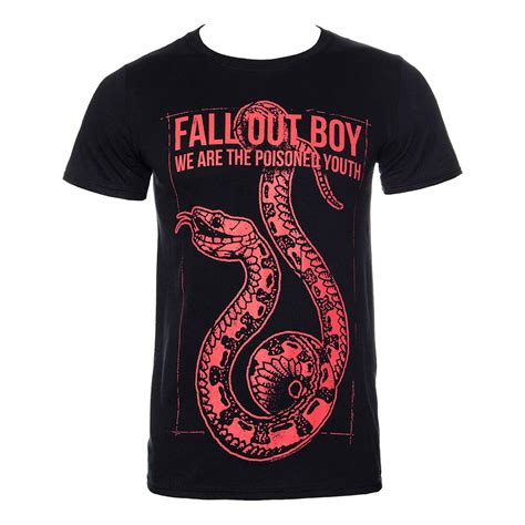 Tshirt Fall Out Boy Fob fall out boy snake t shirt official band tees unisex