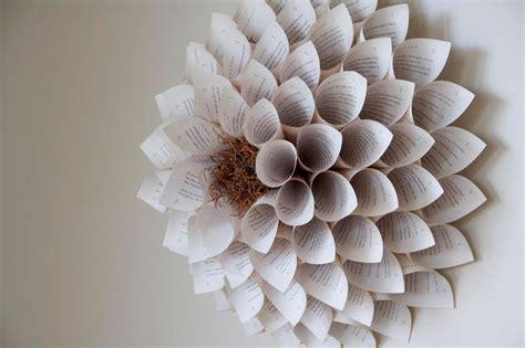 How To Make A Paper Sculpture Flower - paper flower wall sculpture for nursery wedding