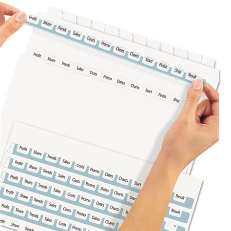 Ave11429 Avery Print Apply Clear Label Dividers W White Ta Zuma Avery 12 Tab Template 11429