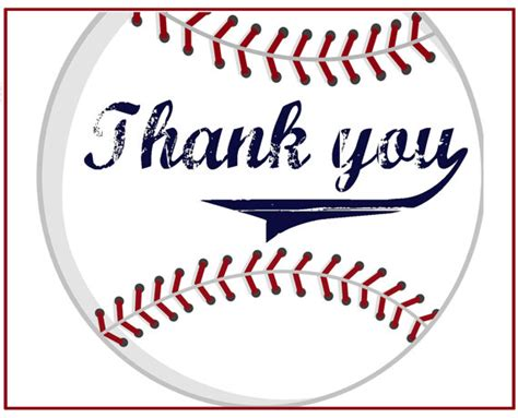 free printable thank you cards sports theme items similar to baseball thank you cards on etsy