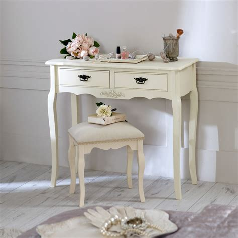 shabby chic table for bedroom cream wooden dressing table set stool shabby french chic