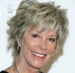 hair style that is popular for 2105 short shaggy hairstyles for older women with fine hair