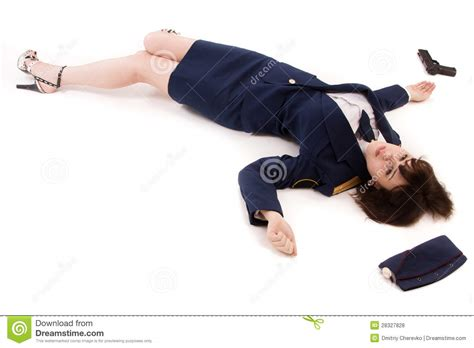 Lying To A Officer by Officer Lying On A Floor Royalty Free Stock Photos