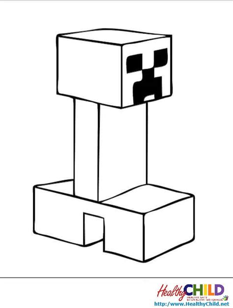 minecraft creeper coloring pages printable mindcraft creepers free colouring pages
