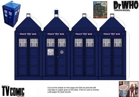 How To Make A Paper Tv - new tv comic tardis paper model by gfoyle on deviantart