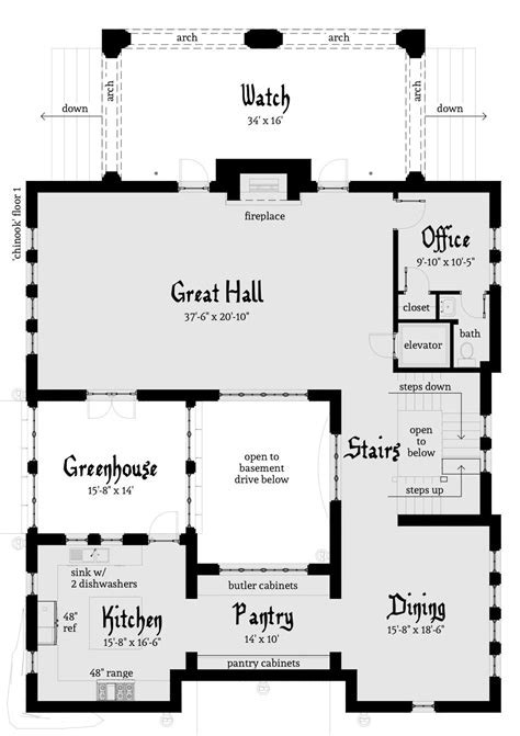 modern castle floor plans using stone chinook castle plan tyree house plans