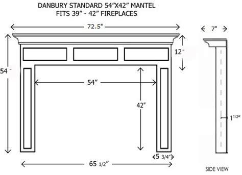 Mantel Shelf Height by Wood Fireplace Mantels Builder Mantels Danbury