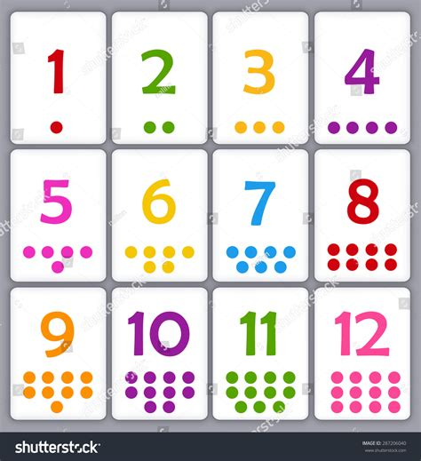 printable flashcards for toddlers printable flash card collection for numbers with dots for