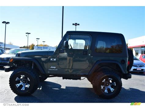 2003 green jeep 2003 shale green metallic jeep wrangler x 4x4 98930479