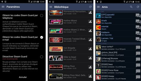 steam for android steam pour android passe 224 la version 2 0 plus rapide et