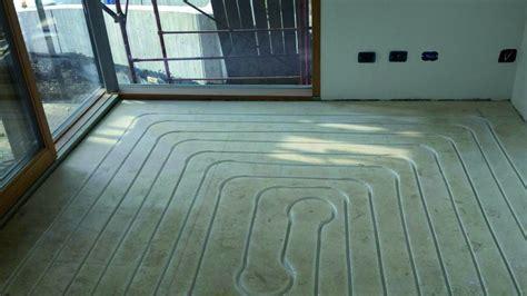 riscaldamento e raffrescamento a pavimento struttura prefabbricata con il sistema brevettato