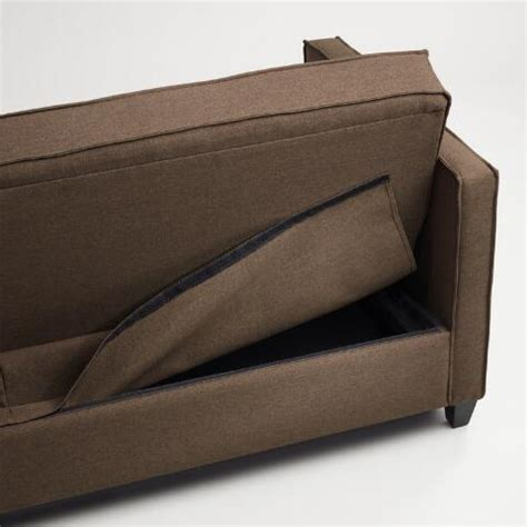 chocolate brown sofa bed chocolate brown nolee folding sofa bed world market