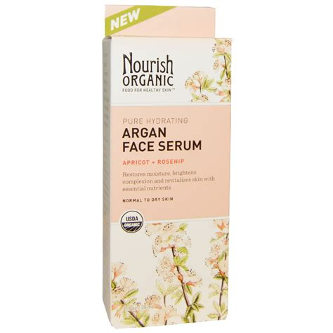 Serum Nourish nourish organic hydrating argan serum apricot rosehip 0 7 oz 20 ml iherb