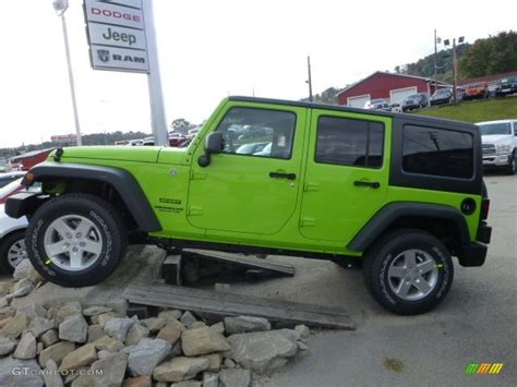 gecko green jeep gecko green pearl 2013 jeep wrangler unlimited sport 4x4