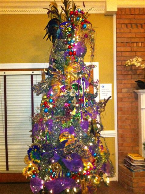 mardi gras christmas tree trendy tree blog