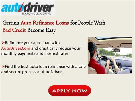 auto refinance loans for with bad credit