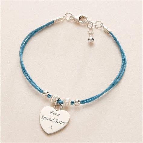 Cord Bracelet, Engraved Heart Charm, Various Colours   Jewels 4 Girls