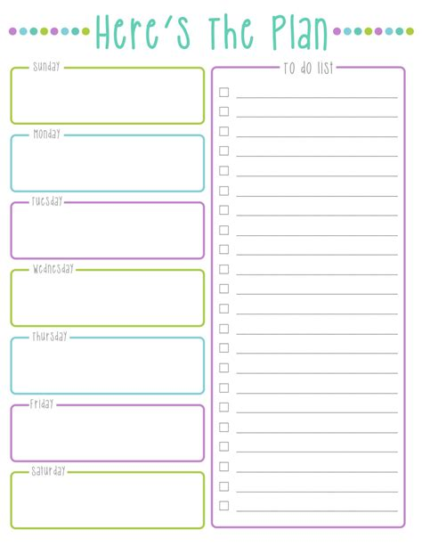 cool to do list template here s the plan weekly to do list cool colors