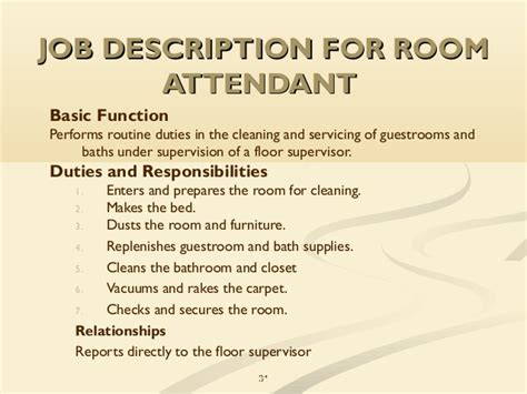 pattern room assistant jobs appealing dining room steward job description ideas